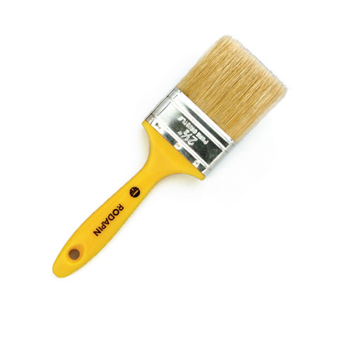 Triple yellow flat brush
