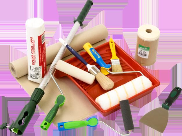 F brica de herramientas para el pintor profesional y bricolaje rodapin - Materiales para estucar paredes ...